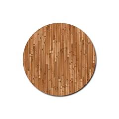 Parquet Floor Rubber Round Coaster (4 pack)