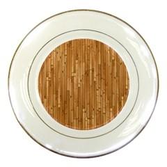 Parquet Floor Porcelain Plates