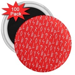 Red Alphabet 3  Magnets (100 pack)