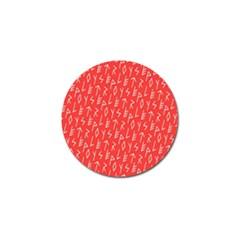 Red Alphabet Golf Ball Marker