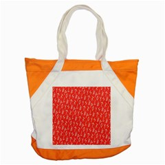 Red Alphabet Accent Tote Bag