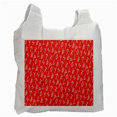 Red Alphabet Recycle Bag (One Side)