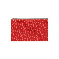 Red Alphabet Cosmetic Bag (Small)