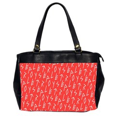 Red Alphabet Office Handbags (2 Sides)