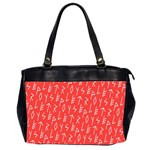 Red Alphabet Office Handbags (2 Sides)  Front