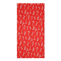 Red Alphabet Shower Curtain 36  x 72  (Stall)