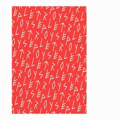 Red Alphabet Small Garden Flag (Two Sides)