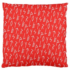 Red Alphabet Large Cushion Case (Two Sides)