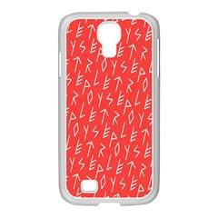 Red Alphabet Samsung GALAXY S4 I9500/ I9505 Case (White)