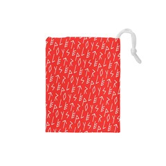 Red Alphabet Drawstring Pouches (Small)