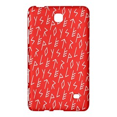 Red Alphabet Samsung Galaxy Tab 4 (7 ) Hardshell Case