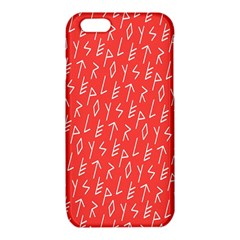 Red Alphabet iPhone 6/6S TPU Case