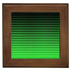 Neon Green And Black Halftone Copy Framed Tiles