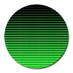 Neon Green And Black Halftone Copy Round Mousepads