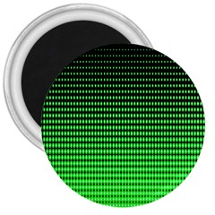 Neon Green And Black Halftone Copy 3  Magnets