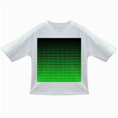 Neon Green And Black Halftone Copy Infant/Toddler T-Shirts