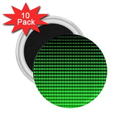 Neon Green And Black Halftone Copy 2.25  Magnets (10 pack)