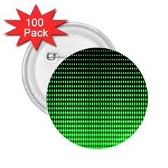 Neon Green And Black Halftone Copy 2.25  Buttons (100 pack)