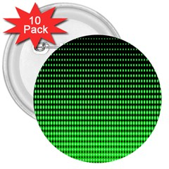 Neon Green And Black Halftone Copy 3  Buttons (10 pack)