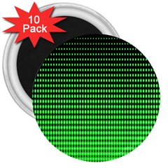 Neon Green And Black Halftone Copy 3  Magnets (10 pack)