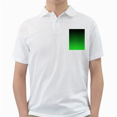 Neon Green And Black Halftone Copy Golf Shirts