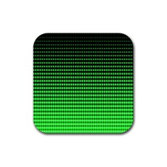 Neon Green And Black Halftone Copy Rubber Square Coaster (4 pack)