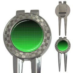 Neon Green And Black Halftone Copy 3-in-1 Golf Divots