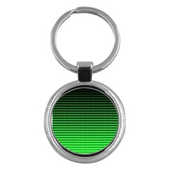 Neon Green And Black Halftone Copy Key Chains (Round)