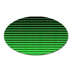 Neon Green And Black Halftone Copy Oval Magnet
