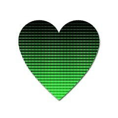 Neon Green And Black Halftone Copy Heart Magnet
