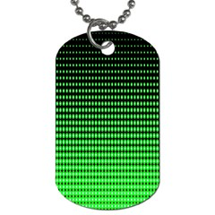 Neon Green And Black Halftone Copy Dog Tag (Two Sides)