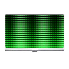 Neon Green And Black Halftone Copy Business Card Holders