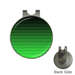Neon Green And Black Halftone Copy Hat Clips with Golf Markers