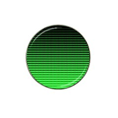 Neon Green And Black Halftone Copy Hat Clip Ball Marker (10 pack)