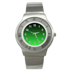 Neon Green And Black Halftone Copy Stainless Steel Watch