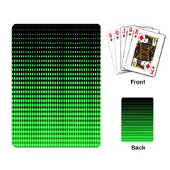 Neon Green And Black Halftone Copy Playing Card