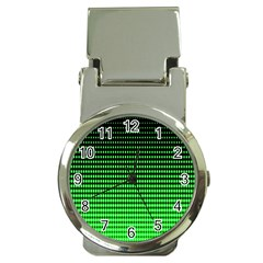 Neon Green And Black Halftone Copy Money Clip Watches