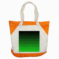Neon Green And Black Halftone Copy Accent Tote Bag