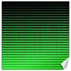 Neon Green And Black Halftone Copy Canvas 16  x 16