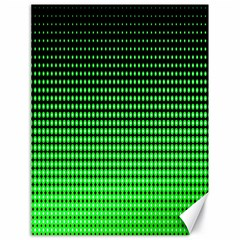 Neon Green And Black Halftone Copy Canvas 18  x 24
