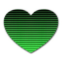 Neon Green And Black Halftone Copy Heart Mousepads