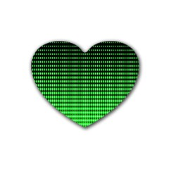 Neon Green And Black Halftone Copy Heart Coaster (4 pack)