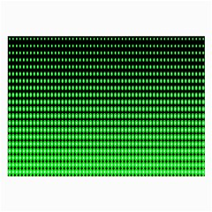 Neon Green And Black Halftone Copy Large Glasses Cloth (2-Side)