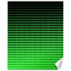 Neon Green And Black Halftone Copy Canvas 11  x 14