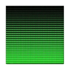 Neon Green And Black Halftone Copy Face Towel