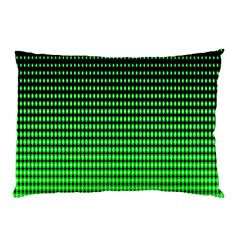 Neon Green And Black Halftone Copy Pillow Case
