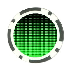 Neon Green And Black Halftone Copy Poker Chip Card Guards (10 pack)