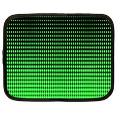 Neon Green And Black Halftone Copy Netbook Case (XXL)
