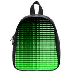 Neon Green And Black Halftone Copy School Bags (Small)