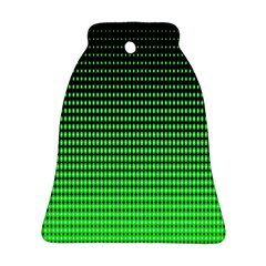 Neon Green And Black Halftone Copy Bell Ornament (2 Sides)